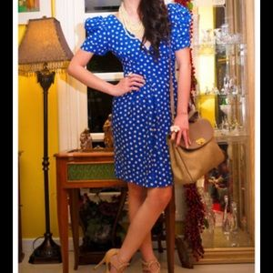 Topshop blue with polka dot sz 6 dress